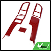 Red Central Control Cover Frame Cover Trim Set Inner for Ford F150 2015-2017