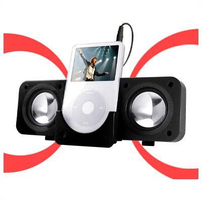Portable BLACK Dock Station Speaker for Mini Video MP4 MP3