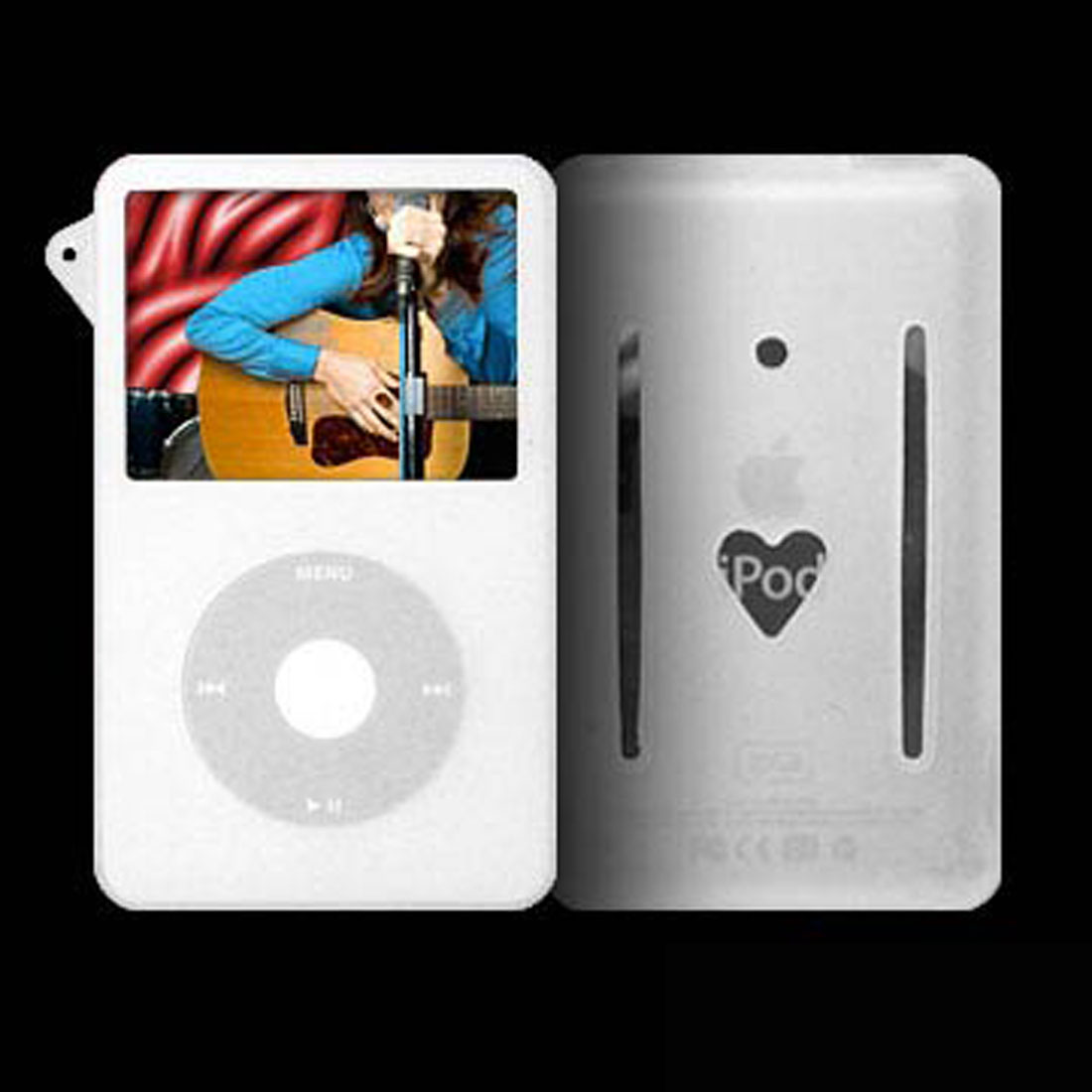 Silicon Skin (White) + Armband for iPod Video 5G