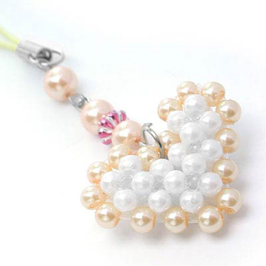 Fashion Jewelry Handmade Beads Phone String / Strap GOLDENen Heart