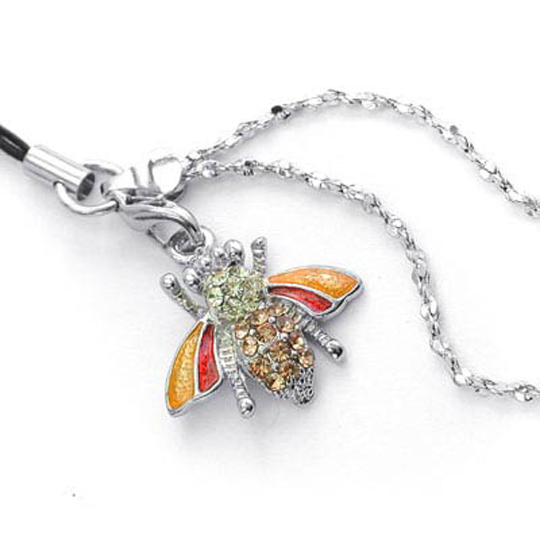 Fashion Jewelry Crytsal Phone String Strap - Honey Bee