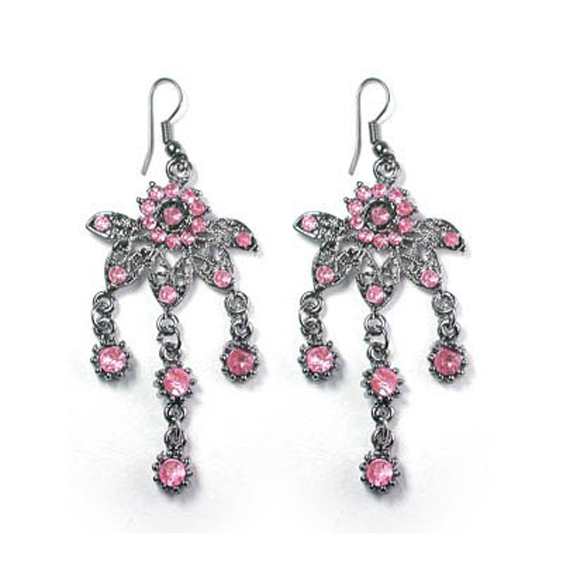 "Fashion Jewelry ""CHIC"" Crystal Clear Earrings 007"