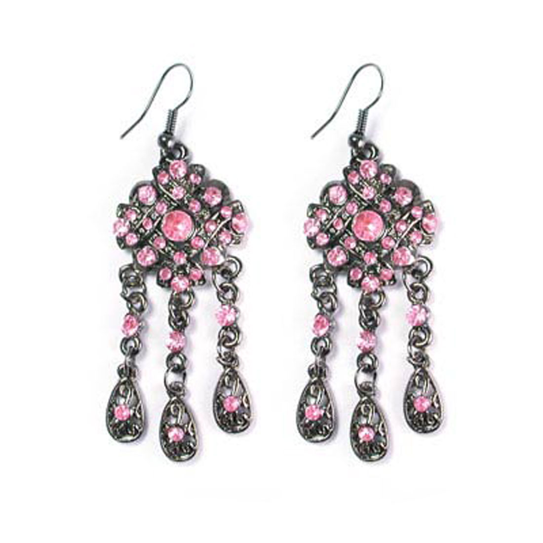 "Fashion Jewelry ""CHIC"" Crystal Clear Earrings 008"